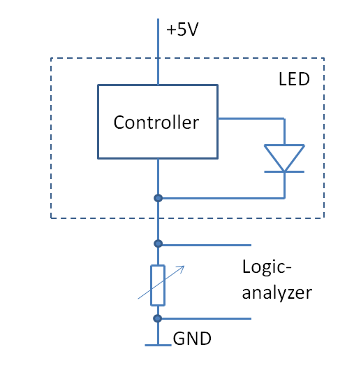 hacking a candleflicker led \u2013 tim\u0027s blogi used this to extract the \u201ccontrol signal\u201d to the led and capture it with a logic analyzer, as shown in the circuit diagram the variable resistor has to